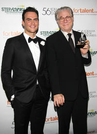 Cheyenne Jackson and John Larroquette at the 56th Annual Drama Desk Awards in New York.