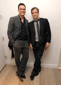 Cheyenne Jackson and designer Kenneth Cole at the 2011 amfAR New York Inspiration Gala Kick-Off party in New York.