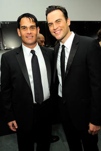 Director Joseph Janus and Cheyenne Jackson at the 2nd Annual amfAR Inspiration Gala in New York.