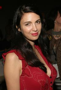 Shiva Rose at the Ghost Couture Spring 2005 fashion show during the Olympus Fashion Week Spring 2005.