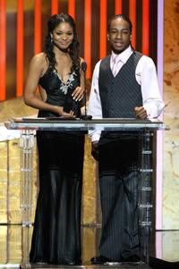 Erica Hubbard and Lil' J.J. at the 39th NAACP Image Awards.