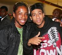 Lil' J.J. and Brandon T. Jackson at the after party of the premiere of