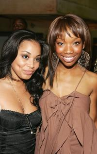 Lauren London and Brandy at the premiere of
