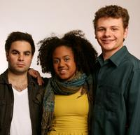 Producer Athas Ioannou, Keziah Niambi John-Paul and Brandon Thane Wilson at the 2008 Tribeca Film Festival.