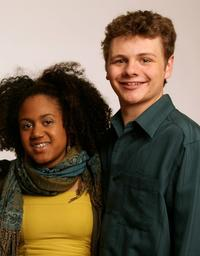 Keziah Niambi John-Paul and Brandon Thane Wilson at the 2008 Tribeca Film Festival.