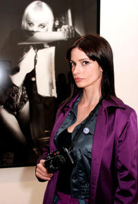 Lisa Marie at the opening reception of Andy Warhol and Helmut Newton's work in California.