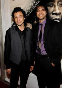 Wade Allain-Marcus and Arjun Gupta at the premiere of