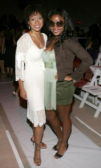 Tracie Thoms and Serena Reeder at the Cynthia Steffe Spring 2006 fashion show during the Olympus Fashion Week.