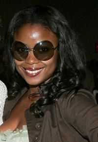 Serena Reeder at the Cynthia Steffe Spring 2006 fashion show during the Olympus Fashion Week.