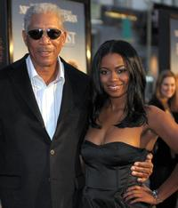 Morgan Freeman and Serena Reeder at the premiere of