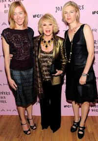 Annie Sundberg, Joan Rivers and Ricki Stern at the premiere of