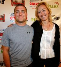 Brian Steidle and Annie Sundberg at the screening of