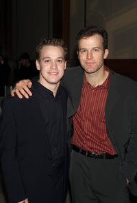 T.R. Knight and Tom McCarthy at the opening night party of