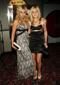 Alyson Michalka and A.J. Michalka at the premiere of