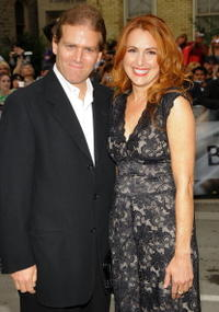 Jodie Markell and Guest at the premiere of