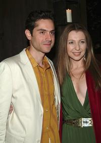 Omar Metwally and Donna Murphy at the after party of