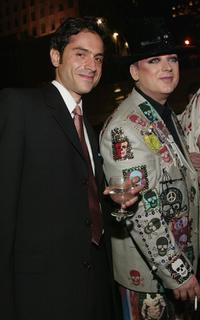 Omar Metwally and Boy George at the after party of 2004 Tony Awards Gala.