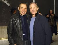 Jeff Koons and Ian Schrager at the Julian Schnabel's unveiling of eight new works.