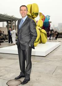 Jeff Koons at the press preview of