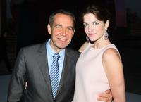 Jeff Koons and Stephanie Seymour at the Cocktail Reception of