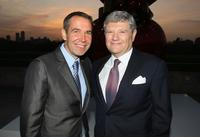 Jeff Koons and Jerry Speyer at the Cocktail Reception of