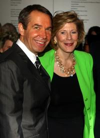 Jeff Koons and Agnes Gund at the David Rockefeller Award Luncheon Honoring Eli Broad.