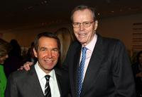 Jeff Koons and Donald Marron at the David Rockefeller Award Luncheon Honoring Eli Broad.