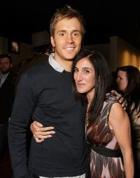 Robert Hoffman and Jennifer Gibgot at the world premiere of
