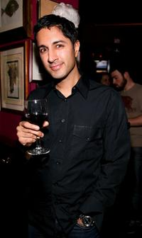 Maulik Pancholy at the New York Magazine Oscar Viewing Party.