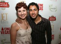 Maulik Pancholy and Guest at the Jet Nightclub during the CineVegas Film Festival.