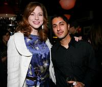 Diane Neal and Maulik Pancholy at the New York Magazine Oscar Viewing Party.