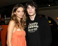 Angela Sarafyan and George Finn at the premiere of