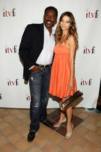 Ernie Hudson and Angela Sarafyan at the premiere of