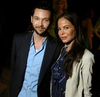 Chris Benz and Allison Sarofim at the Chris Benz Fall 2009 fashion show during the Mercedes-Benz Fashion Week.