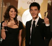 Caterina Murino and Richie Jen at the promotional event of Omega.