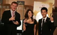 Kevin Rollenhagen, Caterina Murino and Richie Jen at the promotional event of Omega.