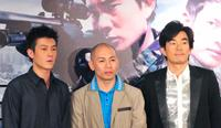 Edison Chen, Dante Lam and Richie Jen at the press conference of