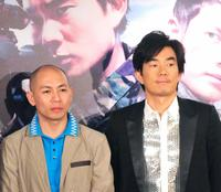 Dante Lam and Richie Jen at the press conference of