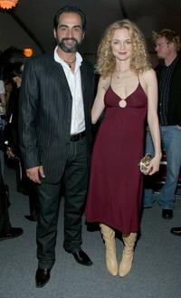 Navid Negahban and Heather Graham at the world premiere party of