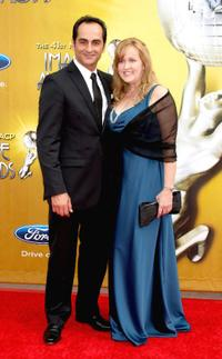 Navid Negahban and Jennifer Negahban at the 41st NAACP Image Awards.