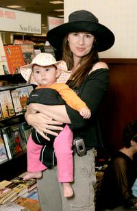 Paula Marshall and her daughter Mimi at the Henery Winklers book signing.