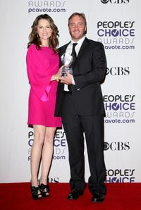 Paula Marshall and Jay Mohr at the 35th Annual People's Choice Awards.