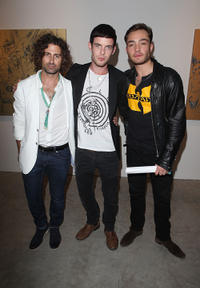 Artist Todd DiCiurcio, Harry Treadaway and Ed Westwick at the Todd DiCiurcio