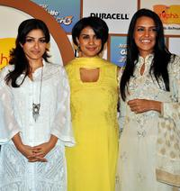 Soha Ali Khan, Gul Panag and Neha Dhupia at the P&G India launch of Shiksha 2010.