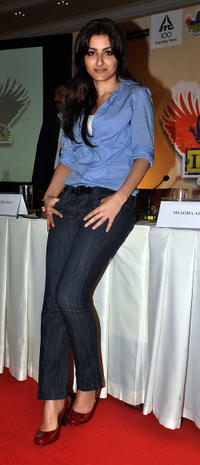 Soha Ali Khan at the ITC Classmates brand ambassador press conference in Mumbai.