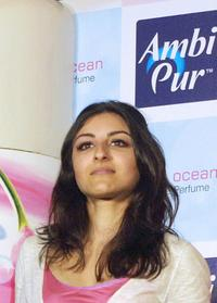 Soha Ali Khan at the launch of Ambipur Home Fragrance.