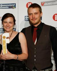 Carolyn Johnson and Michael Dorman at the Inside Film (IF) Awards.