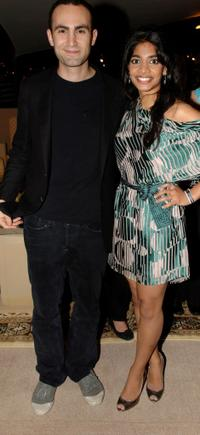 Khalid Abdalla and Amara Karan at the Closing Night Gala Party during the 4th Dubai International Film Festival.