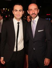 Khalid Abdalla and Shaun Toub at the premiere of