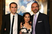 Khalid Abdalla, Atossa Leoni and Shaun Toub at the premiere of